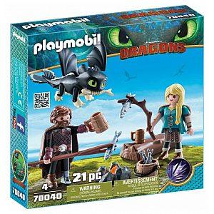 Playmobil Viki in Astrid z zmajčkov 70040