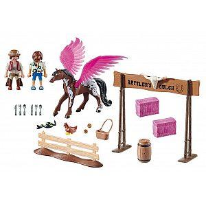 Playmobil  Marla in Del s krilatim konjem 70074