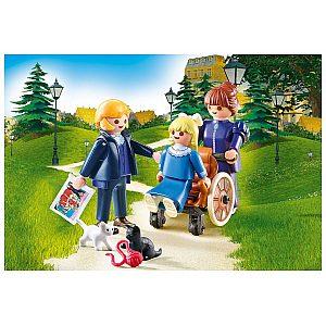 Playmobil HEIDI Klara z očetom in gospodično Rottenmeier 70258