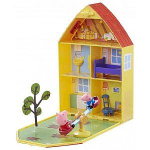 HišaPUJSA PEPA - Peppa Pig z dvoriščem