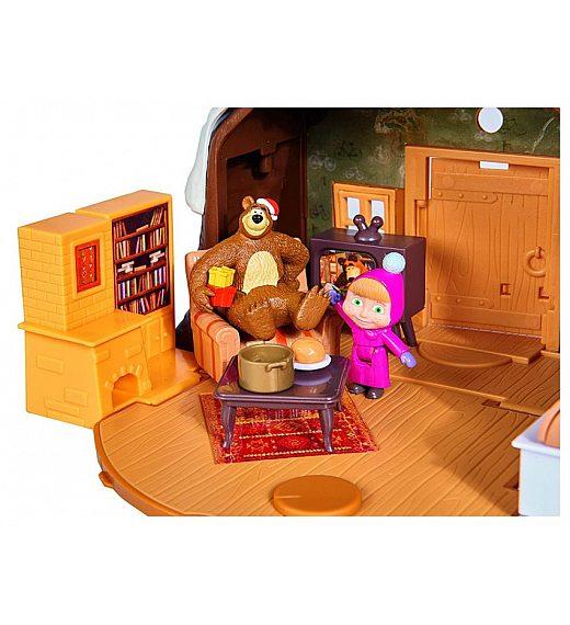 Maša in Medved Playset Medvedov zimski brlog