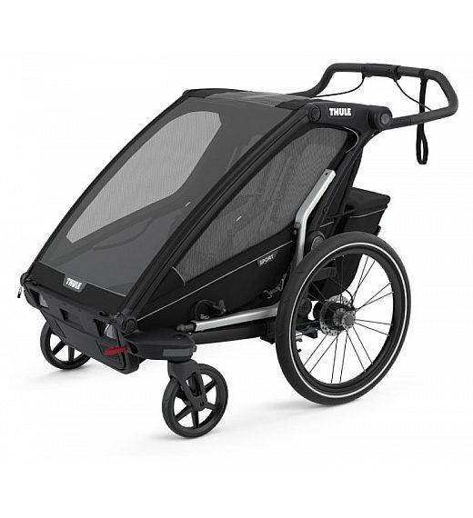 Multifunkcijska prikolica za 2 otroka 4 v 1  Thule Chariot Sport2, Midnight Black