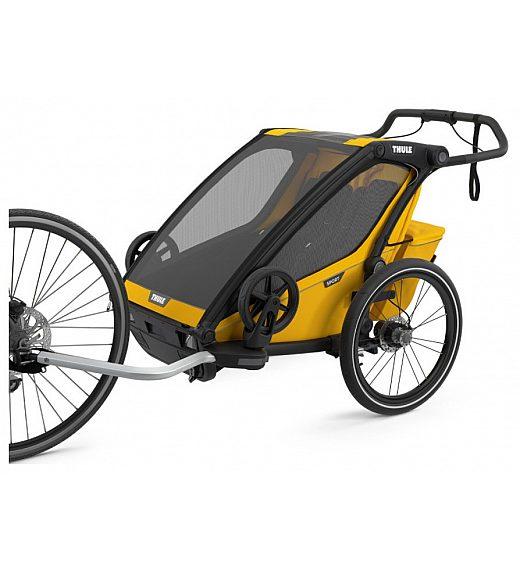Multifunkcijska prikolica za 2 otroka 4 v 1  Thule Chariot Sport2, Black Spetrum yellow